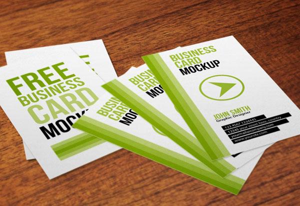 vertical business card mockup 10