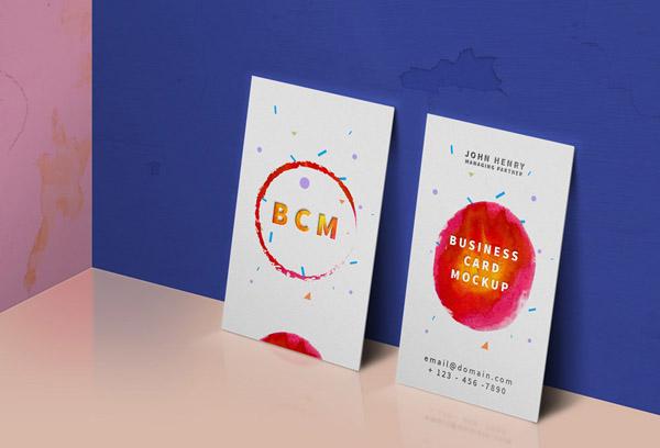 vertical business card mockup 11