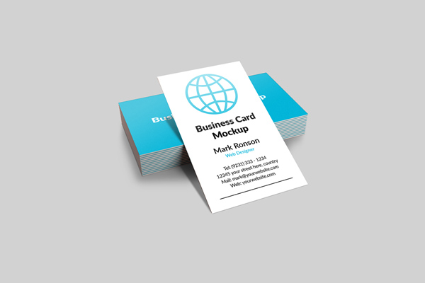 vertical business card mockup 13