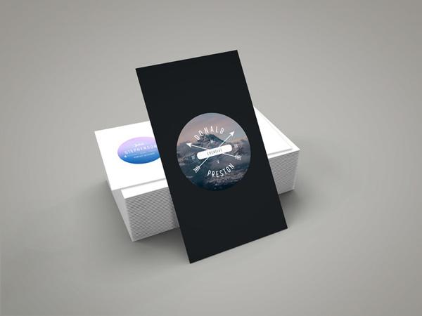 vertical business card mockup 14