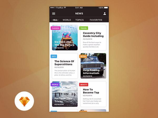 News App UI 09