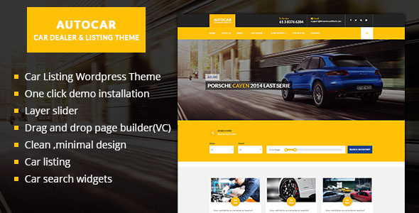 Car Dealer WordPress Theme 06