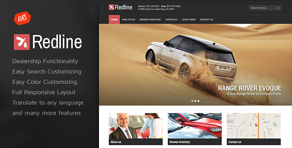 Car Dealer WordPress Theme 14