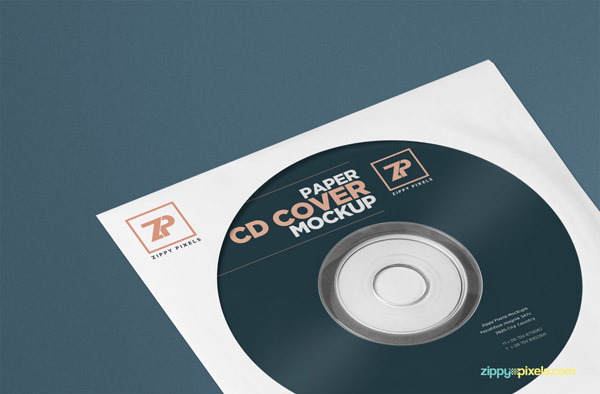 Free CD Cover Mockup PSD Template 02