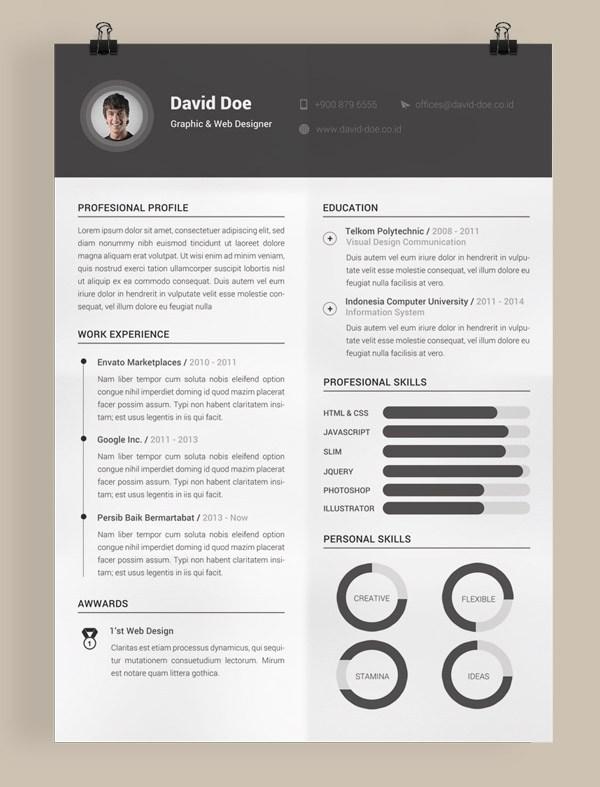 Free Minimal Resume Template 03