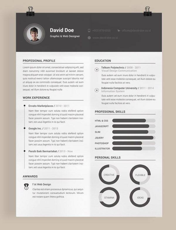 picture resume template