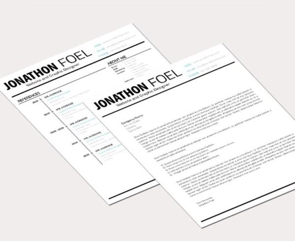 Free Minimal Resume Template 05