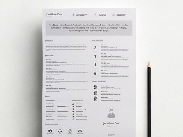 Free Minimal Resume Template 12