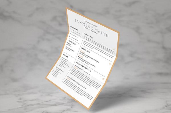 Free Minimal Resume Template 13