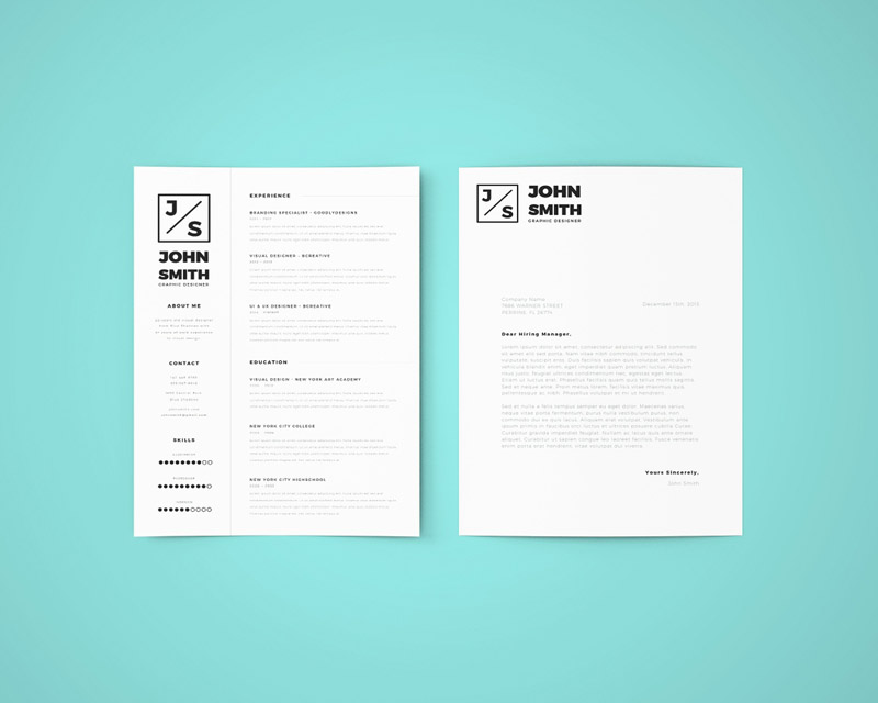 free simple resume template - Simple Resume Cover Letter
