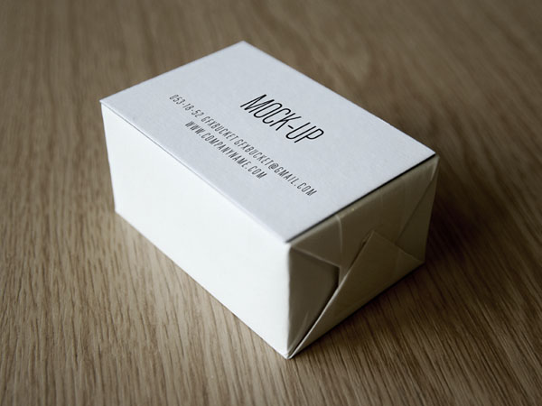 Business Card Mockup PSD on Paper Box