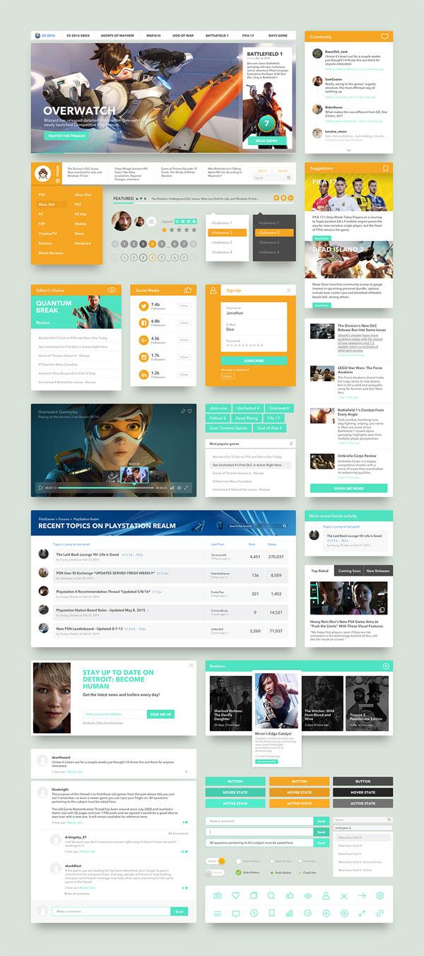 Free Game UI Kit PSD