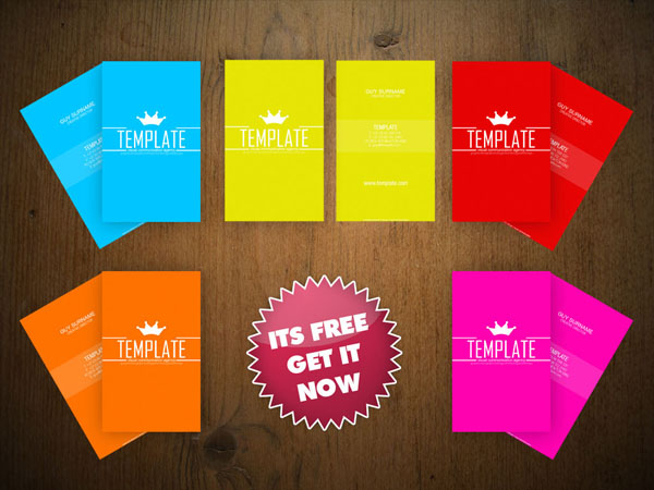 Free Vertical Business Card Template 06