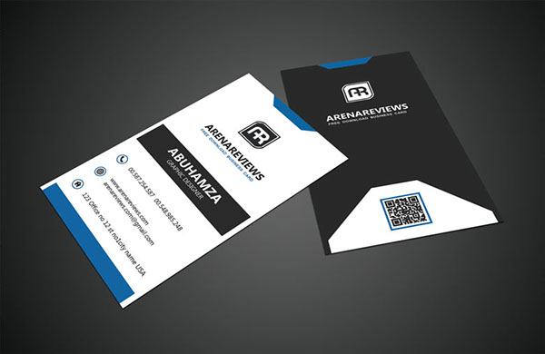 Free Vertical Business Card Template 13