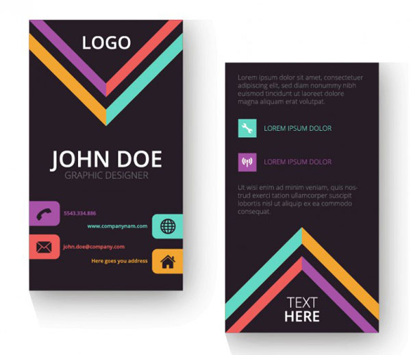 Free Vertical Business Card Template 15