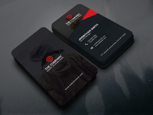 Free Vertical Business Card Template 17