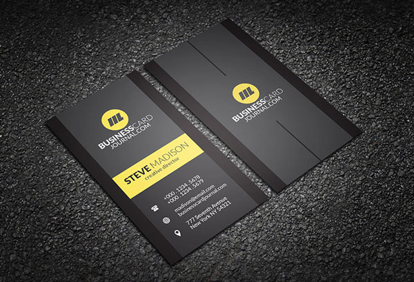 Free Vertical Business Card Template 28