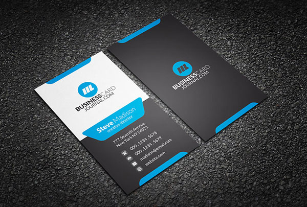 Free Vertical Business Card Template 30