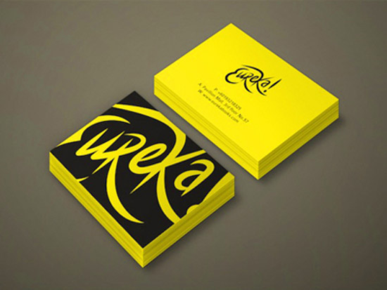 40 yellow business card designs to inspire you