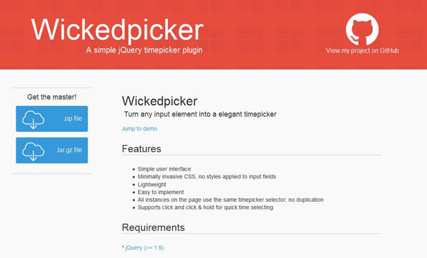 jQuery Time Picker Plugins 04