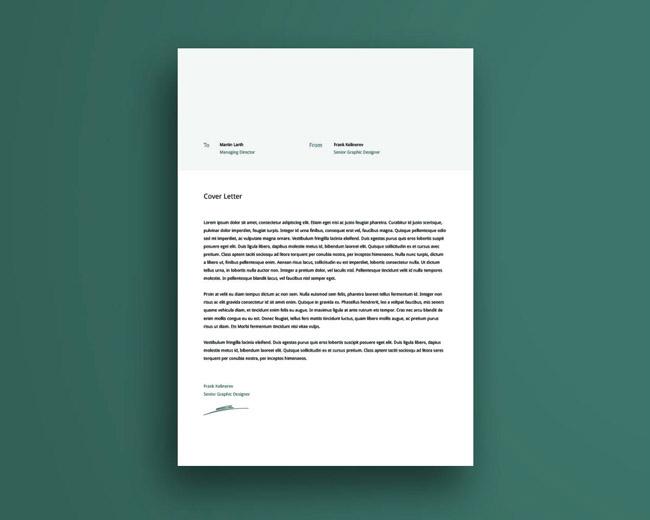 Free Clean Creative CV Template 03