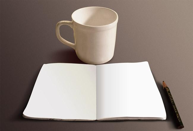 Free Sketch Book Mockup 04