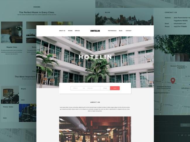 hotelin-free-psd-website
