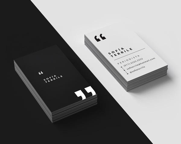 27 great examples of journalist business card design