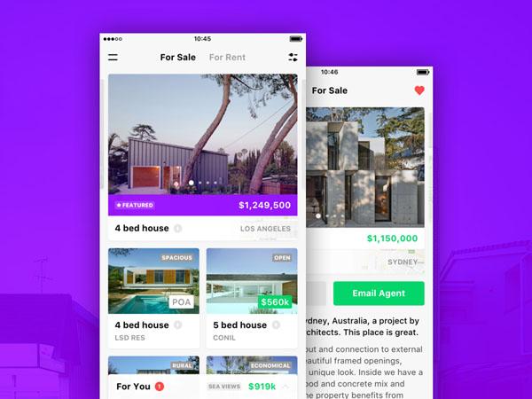 40 best property app ui design for inspiration smashfreakz - Home design app used on love it or list it ...