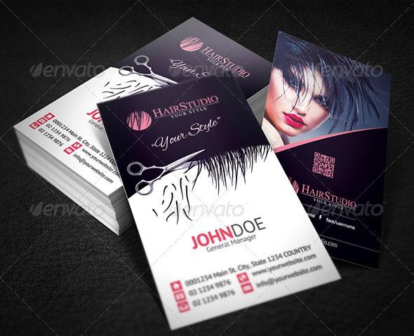 Hair Stylist Business Card Templates - Hair salon business cards templates free