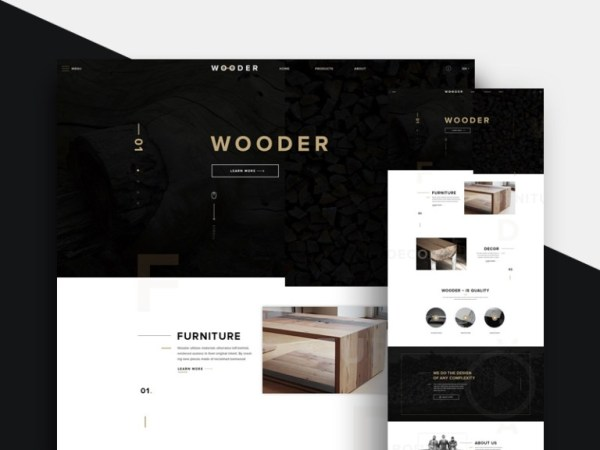Free Furniture Website Template