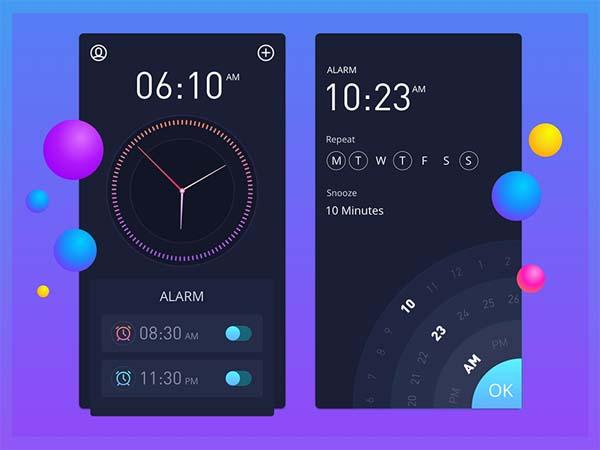 Clock App UI Design