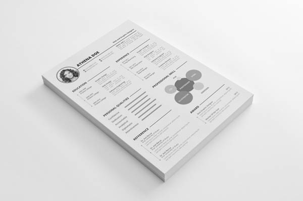 20 free clean resume templates for job seeker