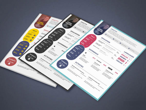 10 free attractive resume templates for maximum impression