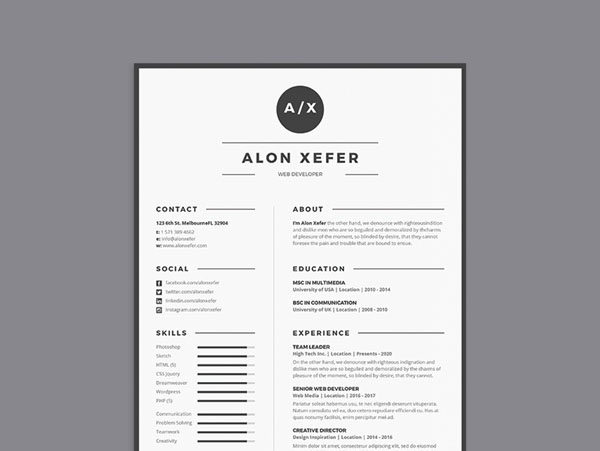 50 free illustrator resume templates for job seeker