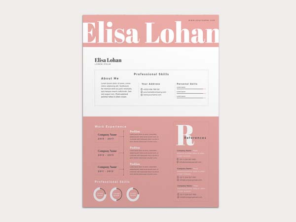 Free Fashion Resume Templates For Best Impression