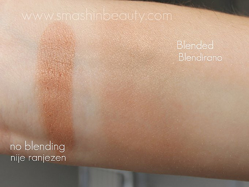 NYX Cosmetics tango with bronzing powder Swatches
