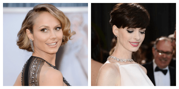 Oscars 2013 Red Carpet Top Pick Beauty  best eyeliner Anne Hathaway Best Eye Brows  Stacy Keibler