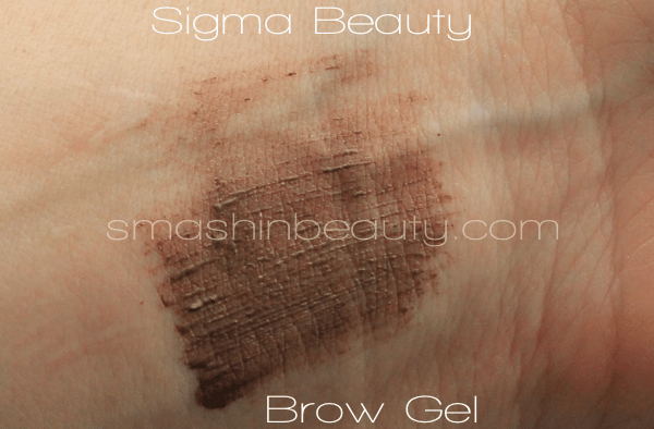 Sigma Beauty Brow Gel Swatches Makeup Review REcenzija