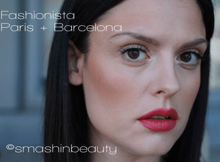 Fashionista Paris Barcelona Swatches Makeup Review