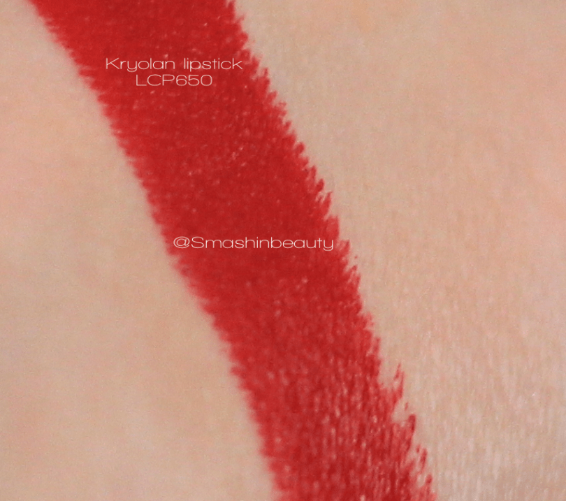 Kryolan LCP650 lipstick swatches review