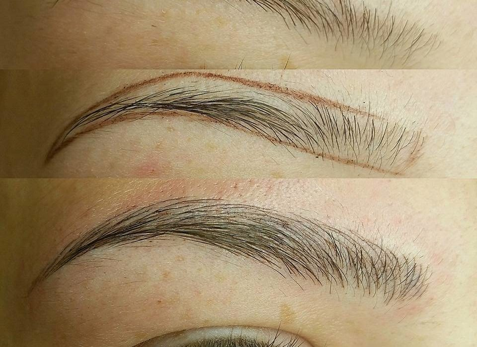 The japanese method of drawing eyebrows aka microblading for How is microblading different to tattooing