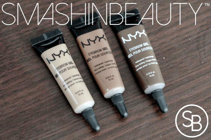 Nyx Brow Gels Review Swatches Demo And Brow Tutorial