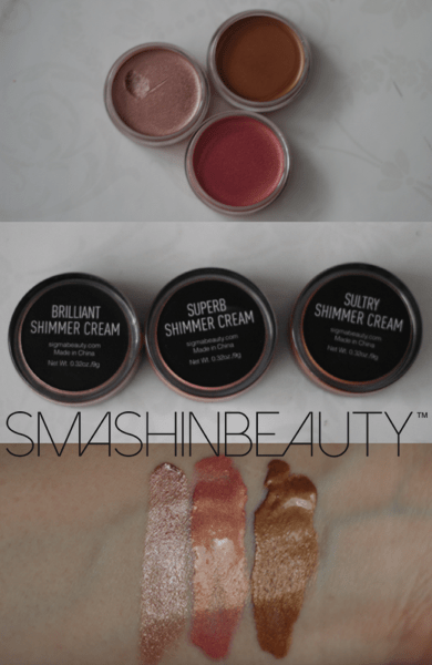 Sigma Beauty Shimmer Cream swatches