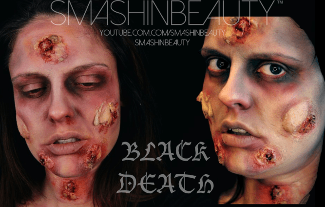 Black Death Plague SFX Halloween Makeup Tutorial