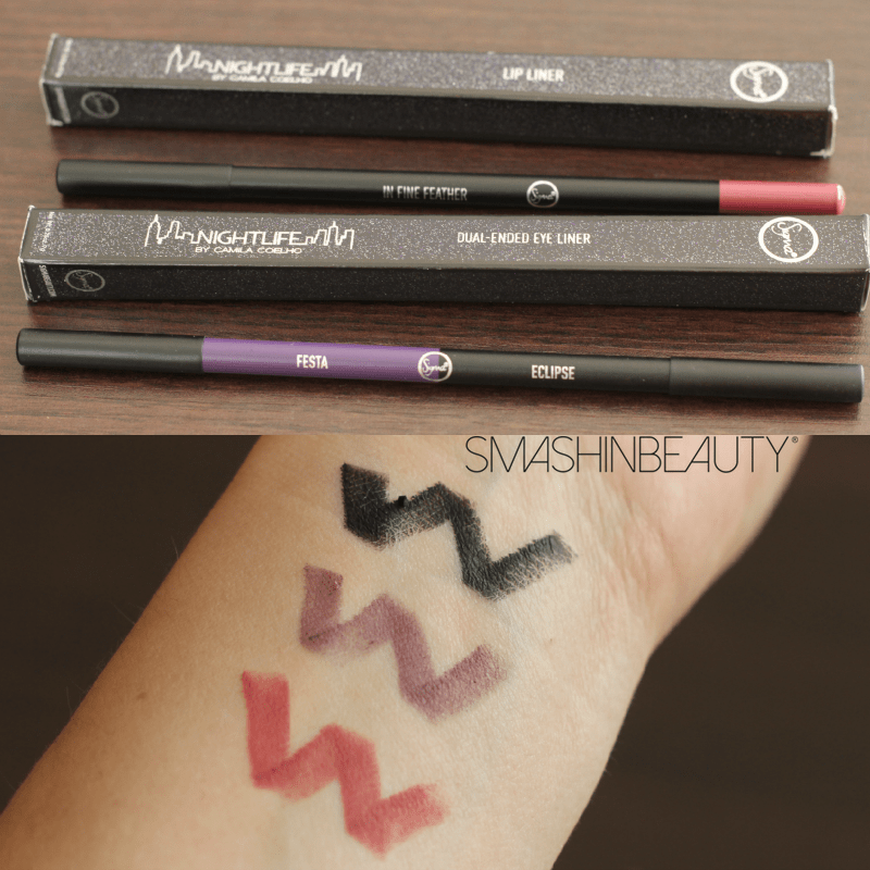 Sigma Beauty Nightlife Dual-Ended eye liner lip liner swatches