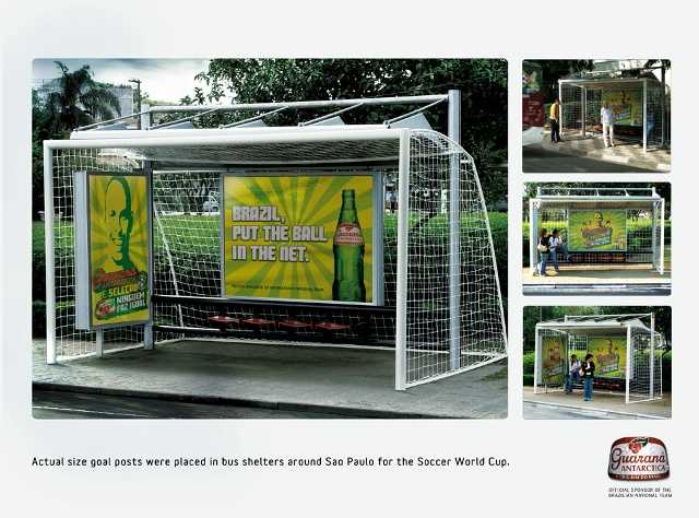 brazilian bus shelter Hilarious FIFA World Cup Advertising 2010