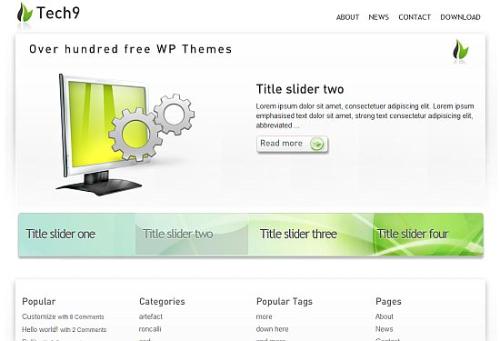wordpress template 18 Top 20 Most Useful WordPress 3.0 Ready Themes