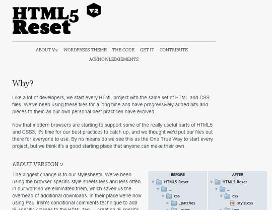 HTML5 Sıfırla