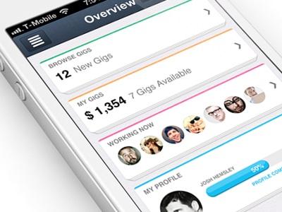 New Flat IOS iPhone app design